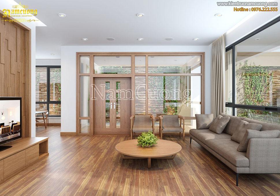 Mẫu thiết kế nội thất nhà vườn sang trọng