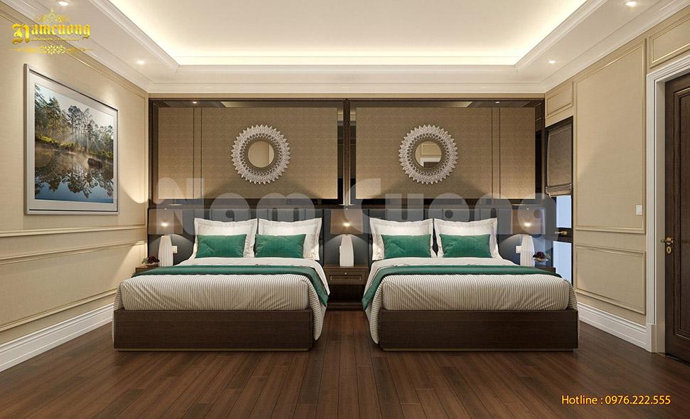 Tổng hợp các mẫu thiết kế phòng khách sạn đẹp dễ thi công