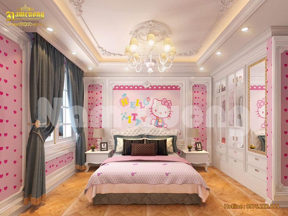 Những mẫu thiết kế phòng ngủ cho bé gái đẹp mắt
