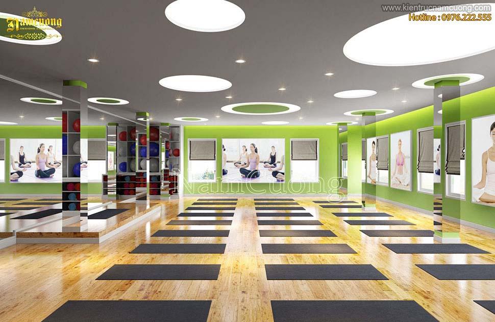 Các mẫu thiết kế phòng tập yoga đẹp
