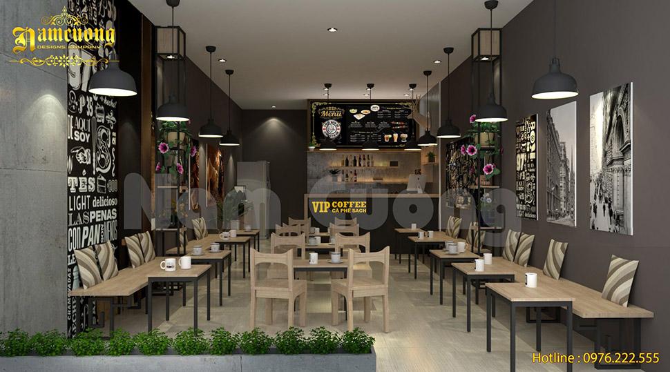 Thiết kế quán cafe 30m2 hấp dẫn khách hàng