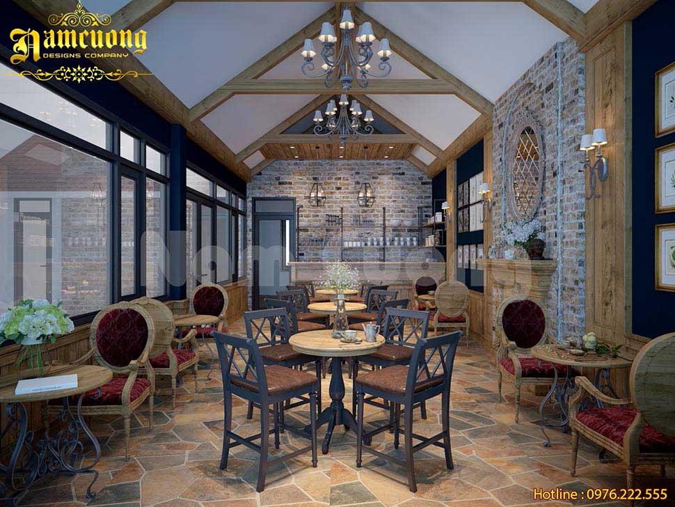 Thiết kế quán cafe cổ điển cho những ai yêu thích nét cổ xưa