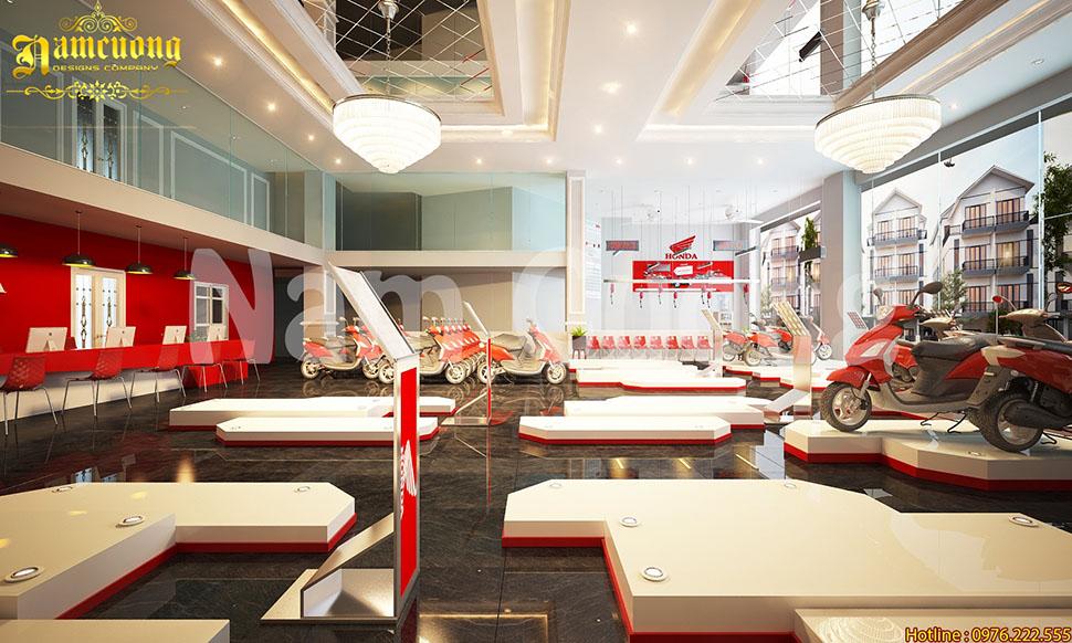 Thiết kế showroom đẹp ấn tượng, phù hợp với tài chính