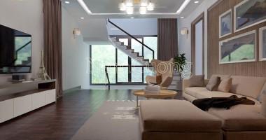Thiết kế nhà đẹp - Cách trang trí giếng trời hợp cầu thang