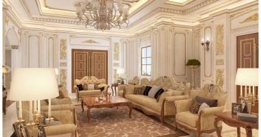 Các mẫu phòng khách tân cổ điển 30m2 đẹp