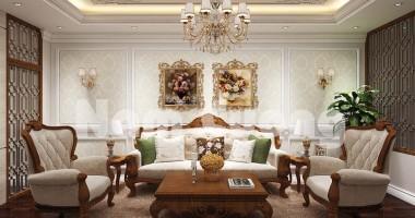 Các mẫu thiết kế nội thất phòng khách sang trọng tân cổ điển
