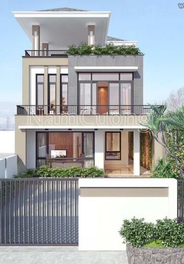 Thiết kế biệt thự hiện đại 3 tầng ấn tượng tại Hải Phòng - BTHD 005