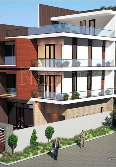 Mẫu thiết kế biệt thự hiện đại 4 tầng sang trọng tại Hà Nội - BTHD 015
