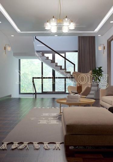Mẫu nội thất phòng khách đẹp cho biệt thự hiện đại tại Hải Phòng