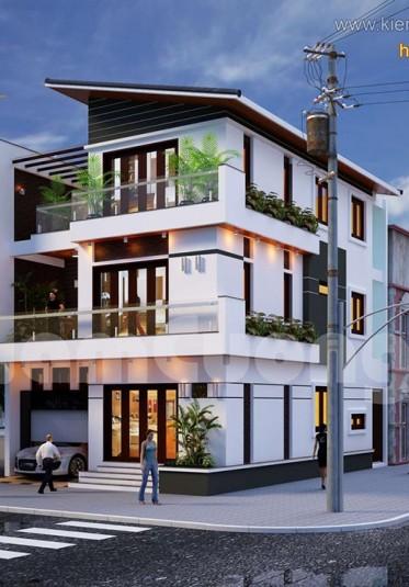 Biệt thự hiện đại 4 tầng ấn tượng tại Hải Phòng - BTHD 008
