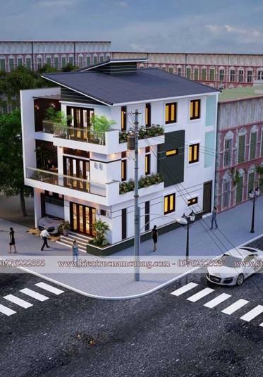 Mẫu biệt thự hiện đại 3 tầng đẹp tại Hải Phòng - BTHD 008