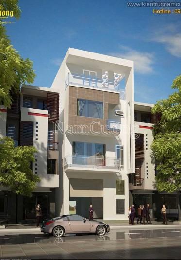 Mẫu thiết kế nhà phố hiện đại 4 tầng tại Hải Phòng