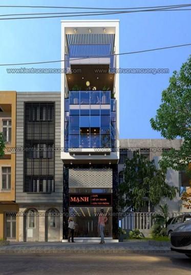 Thiết kế nhà phố hiện đại ngang 3m đẹp tại Hải Phòng