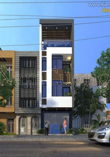 Mẫu nhà phố hiện đại 4 tầng đẹp tại Hải Phòng - NPHD 010