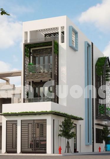 Thiết kế nhà phố 3 mặt tiền hiện đại kiến trúc độc đáo