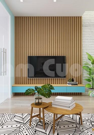 Thiết kế nội thất khách bếp hiện đại nhiều màu sắc