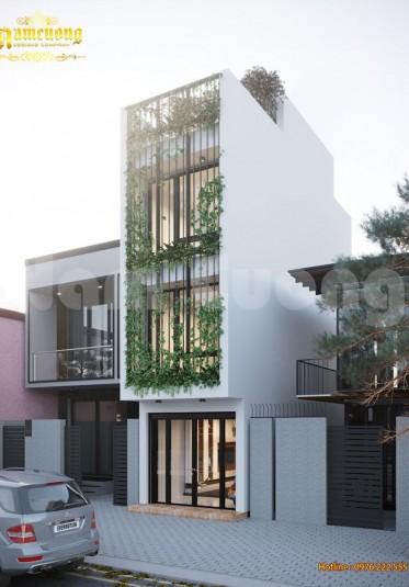 Thiết kế nhà đẹp-Thiết kế nhà phố hiện đại 4 tầng