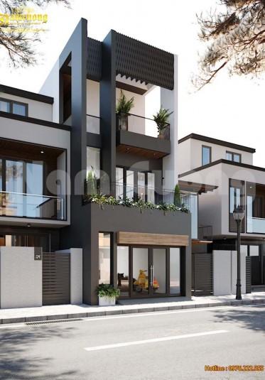 Thiết kế nhà đẹp- Thiết kế nhà ống hiện đại 3 tầng