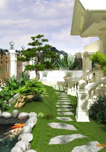 Tổng hợp các mẫu thiết kế tiểu cảnh sân vườn có hồ cá Koi đẹp