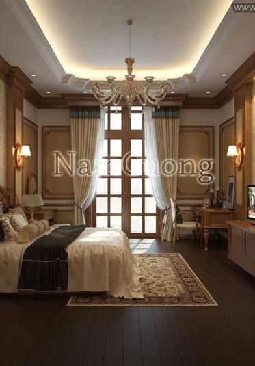 Mẫu nội thất đẹp cho biệt thự Pháp tại Sài Gòn - NTBTP 009