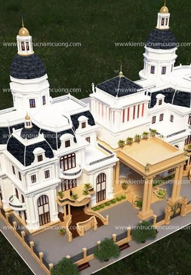 Mẫu thiết kế lâu đài Châu  u đẹp mê mẩn giữa lòng Sài Gòn