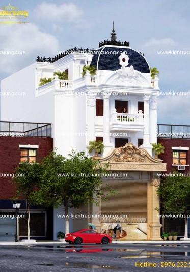 Mẫu thiết kế biệt thự lâu đài 3,5 tầng đẹp tại Lạng Sơn - BTLD 016