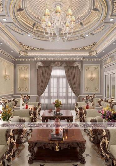 Thiết kế nội thất biệt thự cổ điển Pháp sang trọng tại Ninh Bình - NTBTCD 046