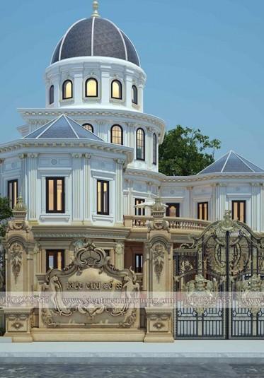 Mẫu thiết kế biệt thự lâu đài đẹp ấn tượng mang thương hiệu Kiến trúc Nam Cường - BTLD 021
