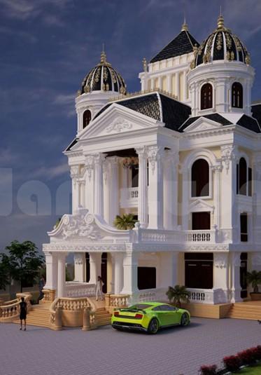Mẫu biệt thự lâu đài cổ điển nguy nga tại Quảng Ninh- BTLD 029