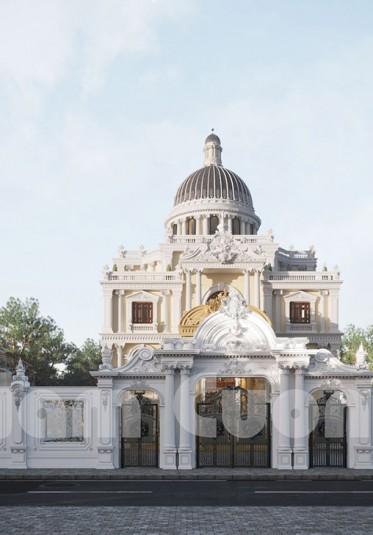 Thiết kế biệt thự lâu đài hoa lệ kiểu Pháp - thiên đường mong ước của nhiều người