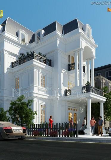 Thiết kế biệt thự tân cổ điển 2 mặt tiền ấn tượng tại Quảng Ninh - BTCD 011