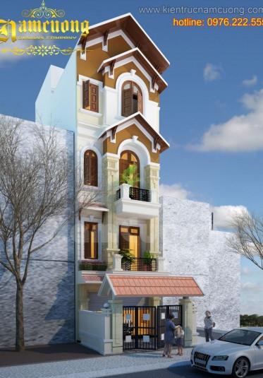 Thiết kế biệt thự tân cổ điển cao 4 tầng tại Quảng Ninh - BTCD 005