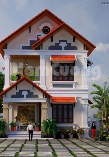 Mẫu thiết kế biệt thự tân cổ điển đẹp tại Quảng Ninh - BTP 005