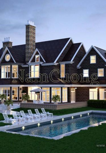 Những mẫu thiết kế biệt thự có bể bơi sang trọng