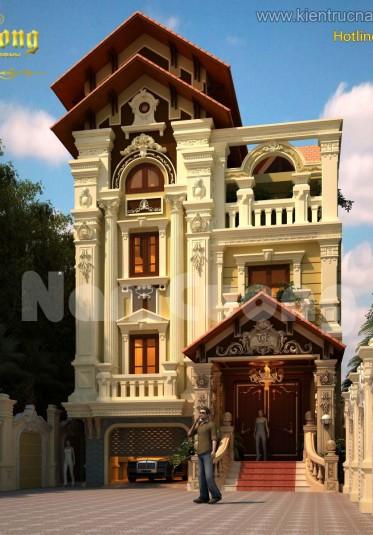 5 mẫu biệt thự kiến trúc nhà Pháp cổ do Nam Cường thiết kế