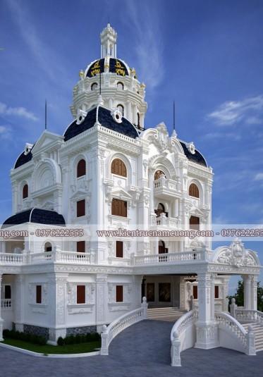 Biệt thự Pháp-Mẫu biệt thự Pháp cổ tại Hà Nội lộng lẫy xa hoa