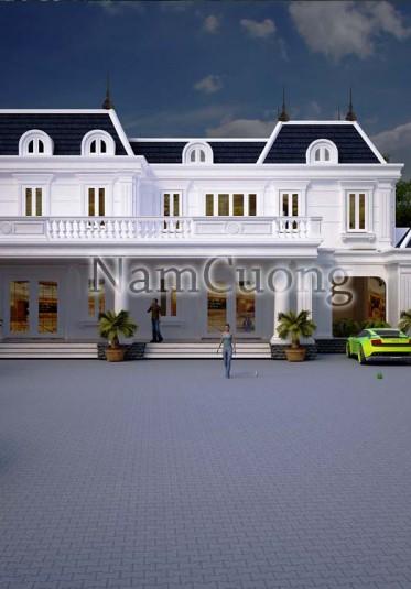 Mẫu thiết kế biệt thự tân cổ điển đẹp tại Hải Phòng - BTCD 018