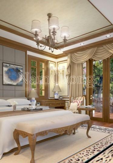 Thiết kế phòng ngủ gỗ công nghiệp bền đẹp cho gia đình