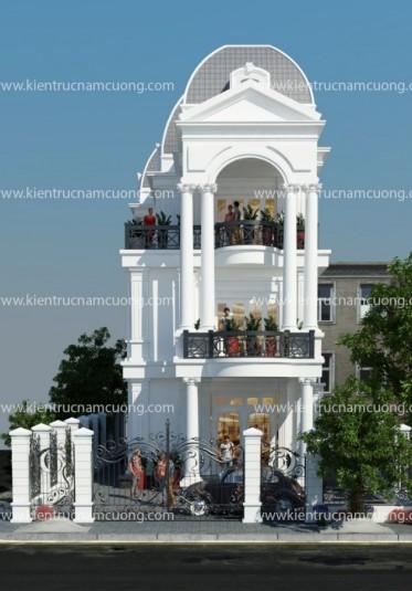 Thiết kế biệt thự tân cổ điển 3 tầng 2 mặt tiền tại Thanh Hóa