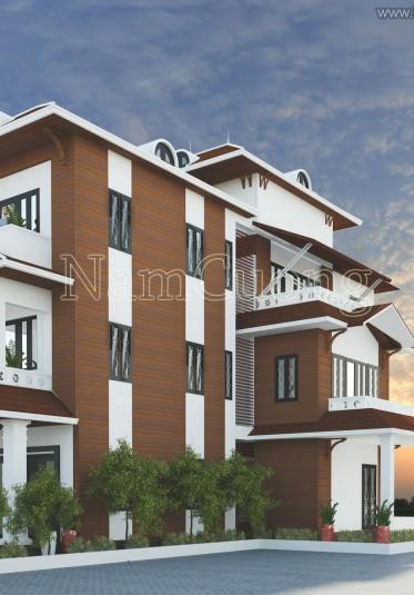 Mẫu thiết kế biệt thự tân cổ điển 3 tầng tại Hải Phòng - BTCD 015