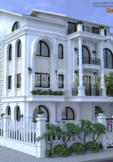 Mẫu thiết kế biệt thự tân cổ điển 4 tầng sang trọng tại Hà Nội - BTCD 033