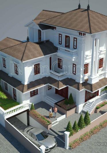 Mẫu thiết kế biệt thự tân cổ điển 3 tầng ấn tượng tại Hải Phòng - BTCD 020