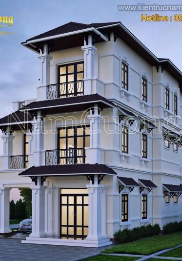 Thiết kế biệt thự mini 100m2 tân cổ điển tại Hà Nội