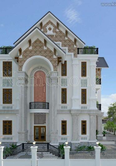 Mẫu thiết kế biệt thự tân cổ điển đẹp tại Bắc Giang - BTCD 032