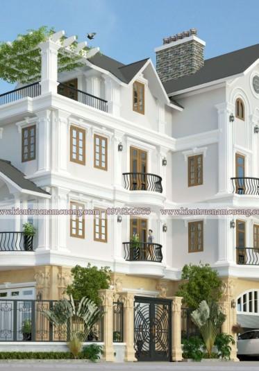 Mẫu thiết kế biệt thự tân cổ điển sang trọng tại Hà Nội - BTCD 035