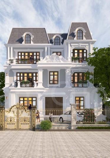 Hoàn thành thiết kế biệt thự tân cổ điển tại Hải Phòng - BTCD 038