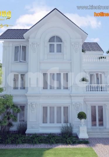 Thiết kế biệt thự tân cổ điển 2 tầng ấn tượng tại Quảng Ninh - BTCD 009