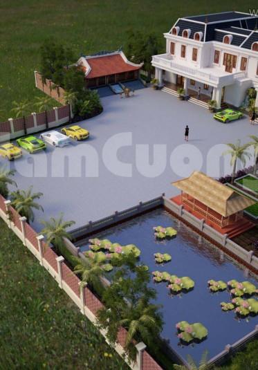 Mẫu biệt thự nhà vườn tân cổ điển đẹp tại Quảng Ninh