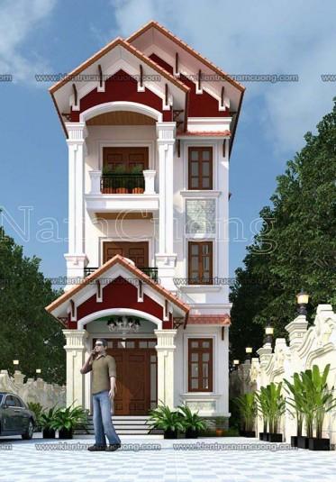 Mẫu thiết kế nhà ống tân cổ điển 3 tầng tại Vĩnh Phúc - NPTCD 003