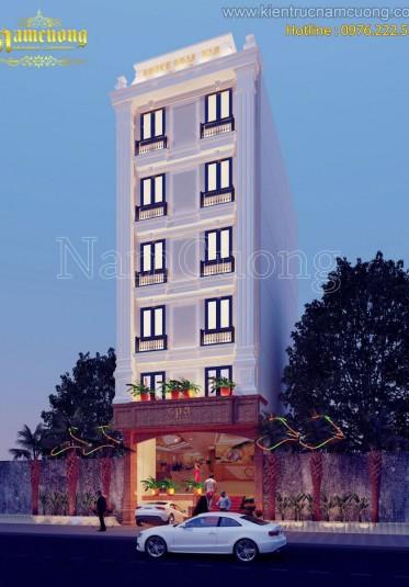 Mẫu thiết kế nhà phố tân cổ điển đẹp sang trọng tại Sài Gòn - NPTCD 004